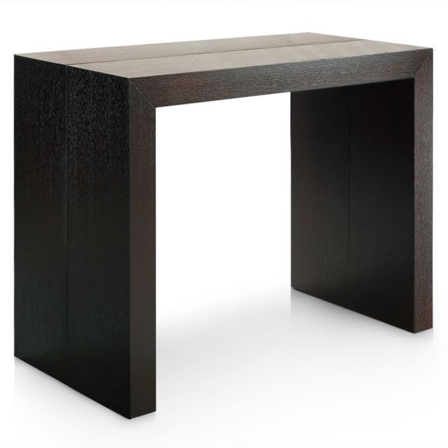 MENZZOPREMIUM Table Console Nassau XL Bois wenge