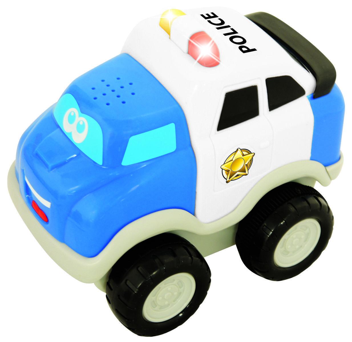 Ma première voiture de police avec sons et lumières bébé 12m+ | Blanche et Bleue