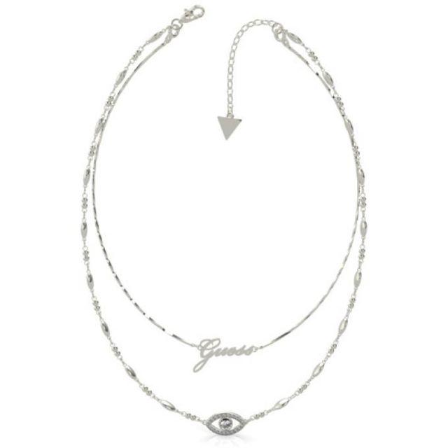 collier femme double pendentif