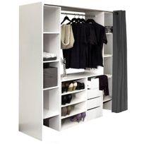 dressing avec rideaux achat dressing avec rideaux pas cher rue du commerce. Black Bedroom Furniture Sets. Home Design Ideas