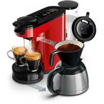 Philips - Senseo Switch Machine à café à dosettes et filtre Rouge Hd6592/81