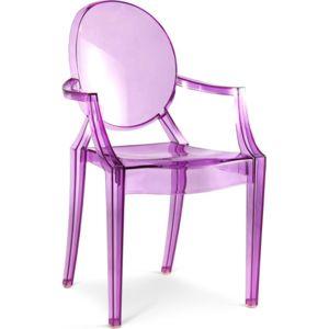 privatefloor fauteuil louis ghost inspiration philippe s violet transparent pas cher. Black Bedroom Furniture Sets. Home Design Ideas