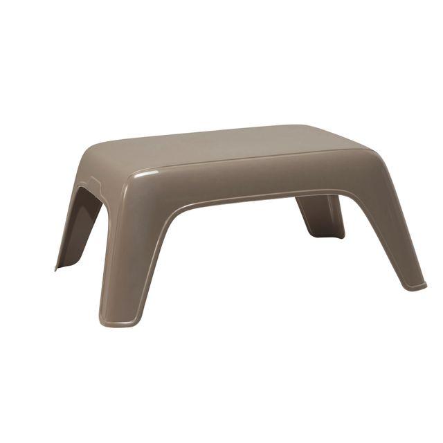 hyba table basse de jardin taupe pas cher achat. Black Bedroom Furniture Sets. Home Design Ideas