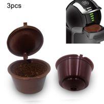 Filtres Café 3 Pcs Dolce Gusto Capsules Réutilisable Shell Nestlé Capsule Remplissage Type Filtre Livraison Couleur Aléatoire