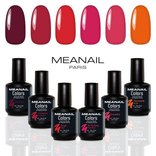 6 De Meanail Colors Coffret Vernis Rouge Permanents Semi Gamme srthQdC