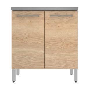 alinéa - elia meuble de cuisine bas 2 portes coloris chêne 80cm ... - Meuble Cuisine Alinea