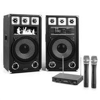 """ELECTRONIC STAR - Set Karaoke """"STAR-12A"""" Enceinte micro sans fil 80W RMS / 160W max"""