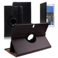 Vcomp - Housse avec support Et Rotation 360° en cuir Pu pour Samsung Galaxy Tab Pro 12.2 Sm-t9000/ Tab Pro 12.2 3G T900/ Tab Pro 12.2 Lte 4G Sm-t905 - Noir