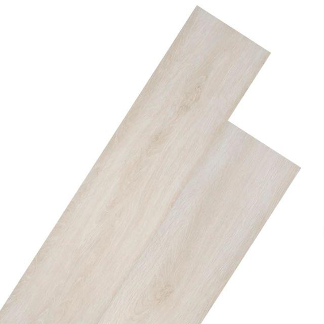 Admirable Matériaux de construction selection Riga Planche de plancher PVC 5,26 m² Couleur de chêne blanc