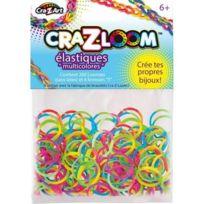 Kanai Kids - Jeux de société - Cra-Z-Loom : Set de 200 Elastiques Multicolores