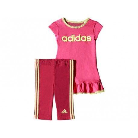 9b80860cc34 Adidas originals - Bb I J Dress Set Ros - Ensemble Bébé Fille Adidas  Multicouleur - 1 - pas cher Achat   Vente Tee shirt homme - RueDuCommerce