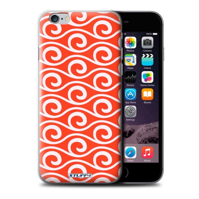 coque iphone 6 rouge motif