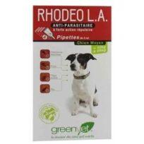 Greenvet - Rhodeo Longue Action Pipettes répulsives Chien Moyen 10 à 25 kg