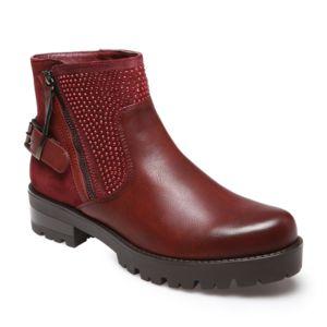 lamodeuse bottines bordeaux avec strass rouge 37 pas cher achat vente boots femme. Black Bedroom Furniture Sets. Home Design Ideas