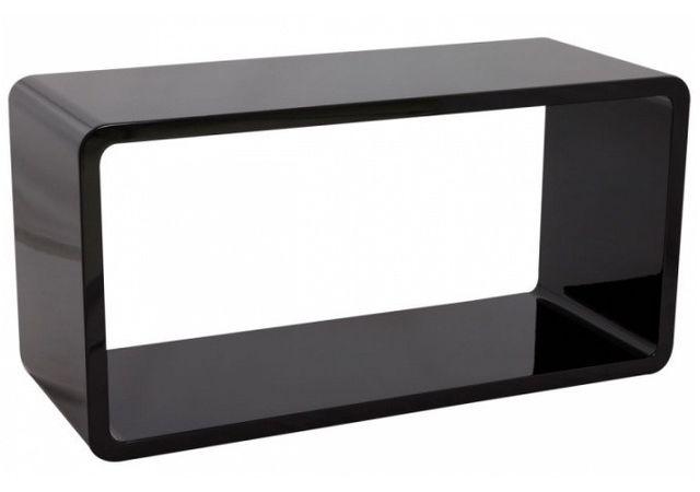 Declikdeco Cette jolie Table basse noire laquée Maly est une table aux lignes épurées qui apportera une petite touche de design à v