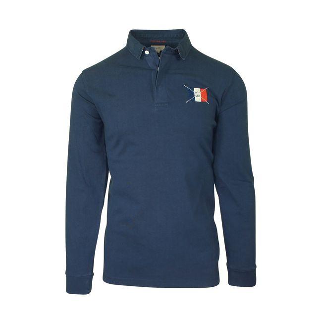 Blanco Manches Sergeblanco Pas Serge Bleu Polo Marine Longues Y7fb6gyvI