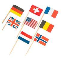 Amscan - Pics drapeaux pays x30