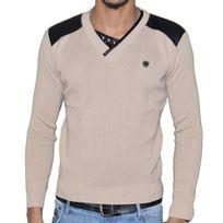 Stef Wear - Pull - Col V - Homme - Stef 823 - Beige