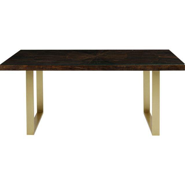Karedesign Table Conley pieds laiton 160x80cm Kare Design