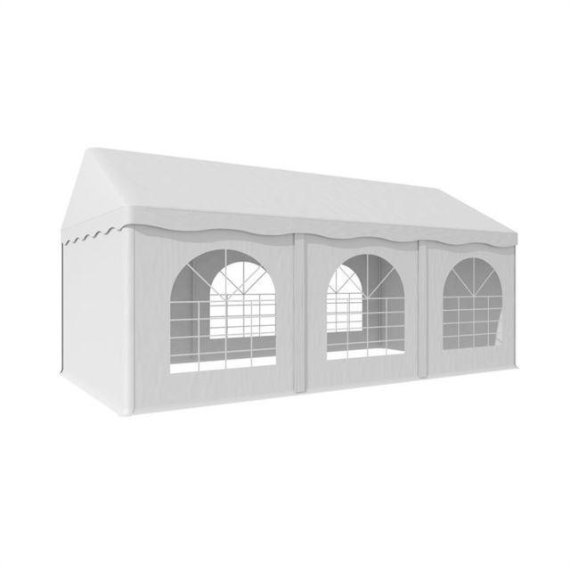 BLUMFELDT Sommerfest 3x6m 500 g/m² Chapiteau tente PVC étanche réfractaire