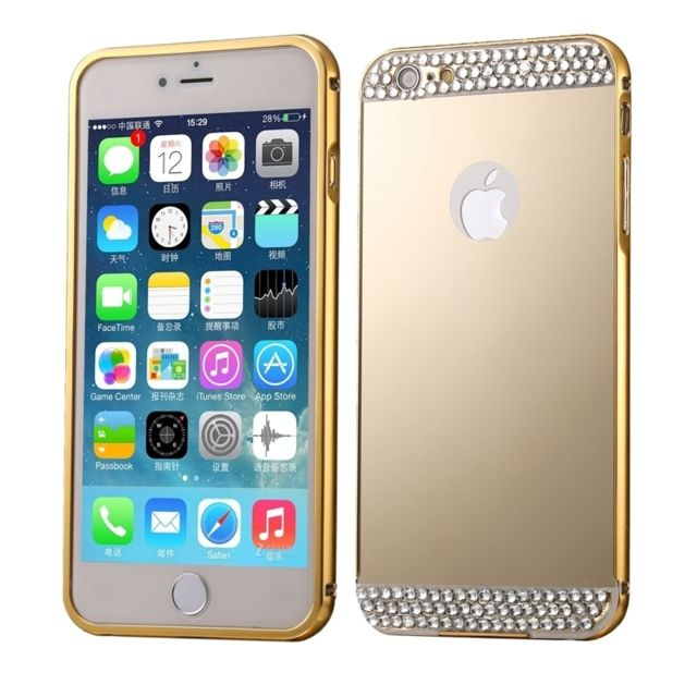 Wewoo - Coque or pour iPhone 6 Plus et 6s Plus Diamant Incrusté Push-Pull b63a9fbf2faa
