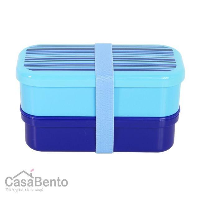 Casabento Boîte à Bento Petit Stripes Bleu