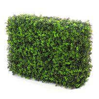JARDIN ARTIFICIEL - Muret de buis artificiel - Vert foncé & Vert clair