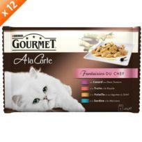 Gourmet - Sachets a la Carte Fantaisies du chef pour chat 4 x 85g x12