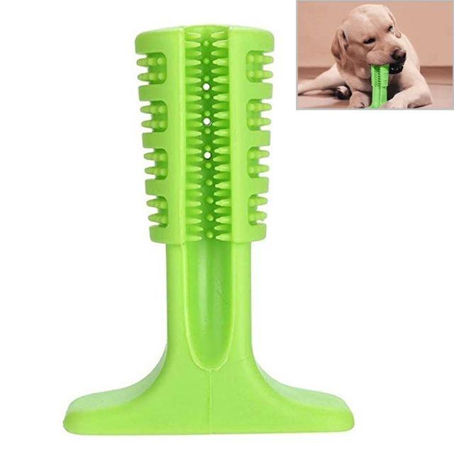 Wewoo Entretien animaux Brosse à dents molle en caoutchouc pour chiens, taille: M vert