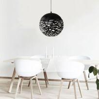 Lampe suspendue Luminaire Salon Creux Ball Lustre Personnalité Créative En  Fer Forgé Sphérique