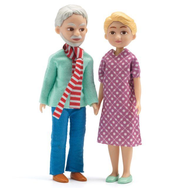 Djeco Figurines pour maison de poupées : Grands-parents