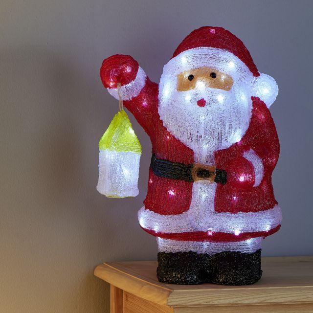 Carrefour Père Noël Lumineux Avec Lanterne 60 Led