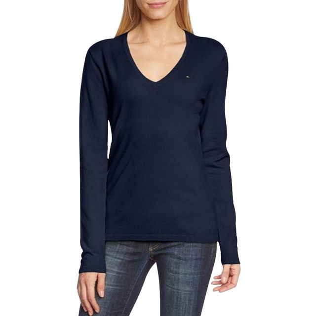 Tommy hilfiger Pull manches longues col V pas cher Achat