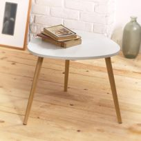 Casame - Table 3 pieds blanche