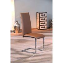 Kalitat - Chaise, siège + assise en Pu brun