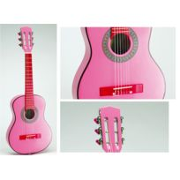 BONTEMPI - Guitare enfant en bois laqué rose 75 cm