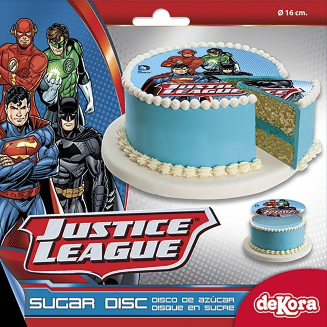 Sans Disque Sucre 16cm Justice League Décoration Gâteau