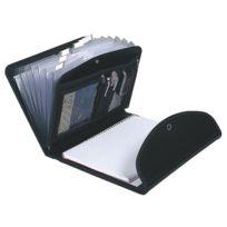 Exacompta - Trieur valisette plastique Exafolio avec porte-bloc 6 divisions noir
