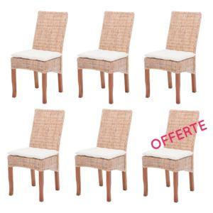 Rotin design soldes 44 lot de 6 chaises en rotin - Soldes chaises design ...