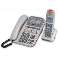 Amplicomms - Téléphone senior filaire avec combiné sans fil amplifié et  touches de mémoires directes Powertel 146c496d8c73