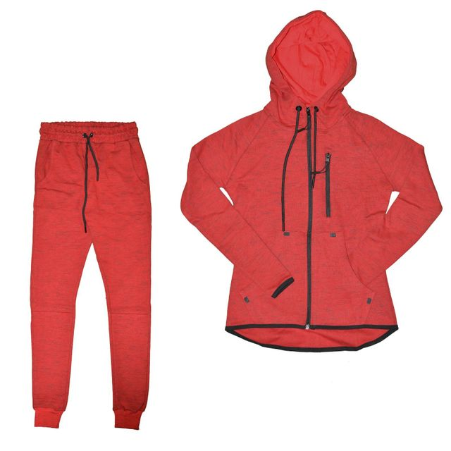 3cc481ecdd3f1 Autre - Closeout - Ensemble Complet Jogging - Femme - Ensemble Chiné 01 -  Rouge