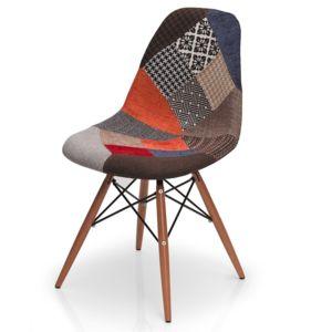 Woodman chaise design mozaik multicolore pas cher for Chaise multicolore