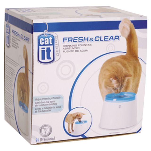 cat it fontaine eau fresh clear pour chat pas cher achat vente gamelle pour chat. Black Bedroom Furniture Sets. Home Design Ideas