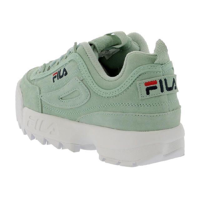 Chaussures basses cuir ou simili Fila Disruptor s pastel turq Bleu 77998