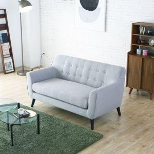 concept usine lysvik 2p canap scandinave 2 places gris clair achat vente canap s pas. Black Bedroom Furniture Sets. Home Design Ideas
