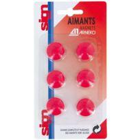 Majuscule Technical - punaise magnetique d22 coloris rouge - blister de 6