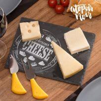 Marque Generique - Plateau Fromage en Ardoise Rectangulaire - fourchette à découper et fourchette à découper