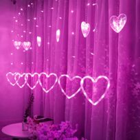 Led en forme de coeur Hanging rideau Guirlandes de Noël Net Accueil Party  Home Décor H