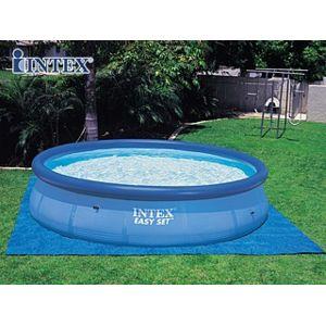 Intex vigipiscine tapis de sol bleu pour piscine hors - Tapis de sol pour piscine ronde ...
