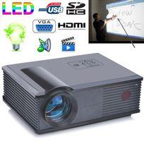 Yonis - Vidéoprojecteur 3200 Lumens Led 160W Home cinema Hd 1080p Gris